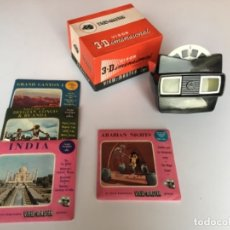 Cámara de fotos: VISOR 3D VIEWMASTER VIEW-MASTER CON CAJA ORIGINAL Y 4 DISCOS (ARABIAN NIGHTS, GRAND CANYON FUNCIONA. Lote 157894750