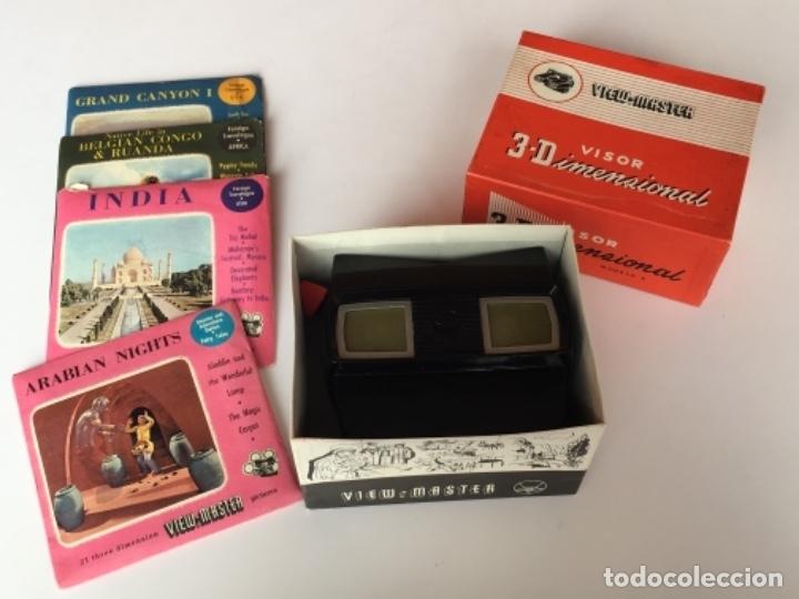 Cámara de fotos: VISOR 3D VIEWMASTER VIEW-MASTER CON CAJA ORIGINAL Y 4 DISCOS (ARABIAN NIGHTS, GRAND CANYON FUNCIONA - Foto 9 - 185316212