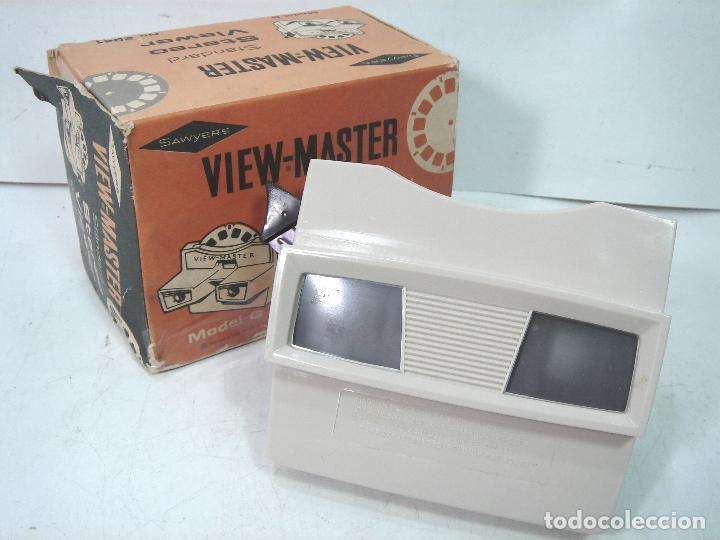 VISOR ESTEREOSCOPICO 3D -VIEW MASTER MOD: STANDARD G 2041+CAJA-BELGIUM AÑOS 60 - SAWYERS STEREO- (Cámaras Fotográficas - Visores Estereoscópicos)