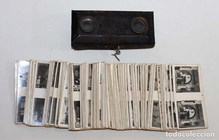 VISOR FOTO ESTEREOSCOPIO CHOCOLATES Y GALLETAS SOLSONA CON 132 ESTEREOGRAMAS - AÑOS 20 (Cámaras Fotográficas - Visores Estereoscópicos)