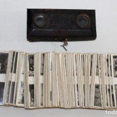 Cámara de fotos: VISOR FOTO ESTEREOSCOPIO CHOCOLATES Y GALLETAS SOLSONA CON 132 ESTEREOGRAMAS - AÑOS 20. Lote 158898446