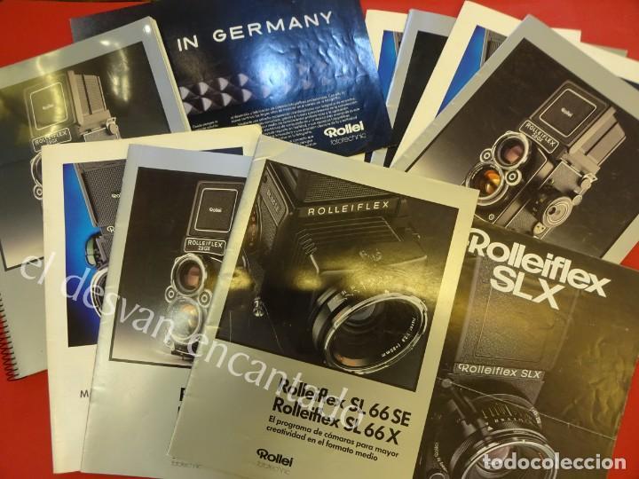 LOTE DIVERSOS CATÁLOGOS ROLLEIFLEX. VER FOTOS (Cámaras Fotográficas - Catálogos, Manuales y Publicidad)