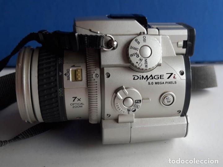 Cámara de fotos: Cámara Minolta 7i 5 MPX Megapixeles, funcionando. Incluye tarjeta de memoria - Foto 2 - 160575218