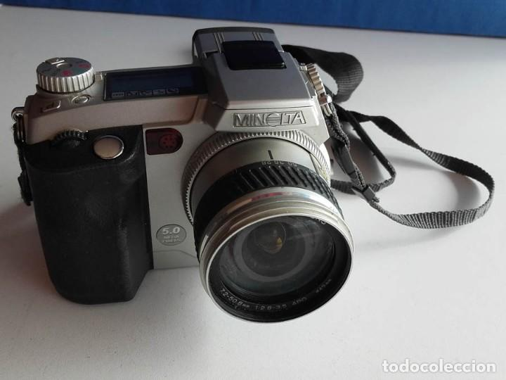 Cámara de fotos: Cámara Minolta 7i 5 MPX Megapixeles, funcionando. Incluye tarjeta de memoria - Foto 7 - 160575218