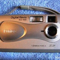 Cámara de fotos: KONICA DIGITAL REVIO KD-100 CAMARA FOTOS Y VIDEO DIGITAL CON ASA, TARJETA 16 MEGAS Y FUNDA PROPIA.. Lote 161773278