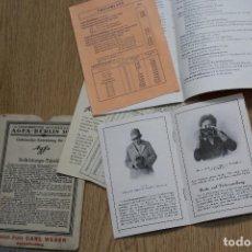 Cámara de fotos: TABLA DE EXPOSICIONES. AGFA ,ETC. Lote 162936694