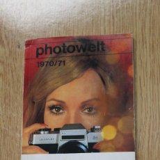 Cámara de fotos: MUNDO DE LA FOTOGRAFÍA. PHOTOWELT. AÑO 1970/71. Lote 162974886