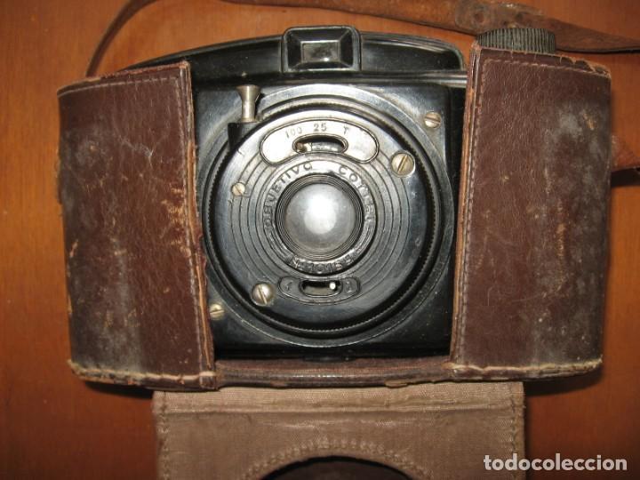 Cámara de fotos: Antigua cámara de fotos marca Fotex con funda de piel. - Foto 3 - 163419566