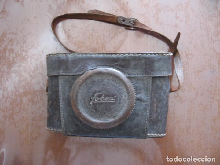 Cámara de fotos: Antigua cámara de fotos marca Fotex con funda de piel. - Foto 5 - 163419566