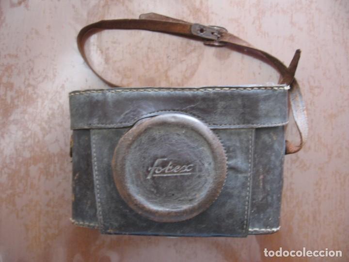 Cámara de fotos: Antigua cámara de fotos marca Fotex con funda de piel. - Foto 6 - 163419566