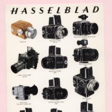 Cámara de fotos: POSTAL ··A COLLECTION OF HASSELBLAD CAMERAS - THE 50TH ANNIVERSARY 1991·· 21 X 15 CM. Lote 164627934