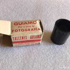 Cámara de fotos: RARA CAJA CARRETE ANTIGUO Y NEGATIVOS DE LOS TALLERES GUIAMO. Lote 164787289
