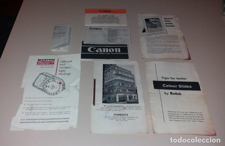 Cámara de fotos: Catálogos. Cámaras de foto y otros productos de fotografía (Canon, Kodak, Highgate, Weston) - Foto 2 - 166110438