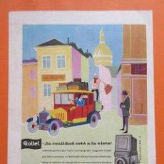 Cámara de fotos: PUBLICIDAD 1959- COLECCIÓN CÁMARAS - ROLLEI ROLLEIFLEX. Lote 166762132
