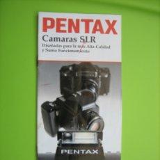 Cámara de fotos: CATALOGO CÁMARA PENTAX. Lote 166971520