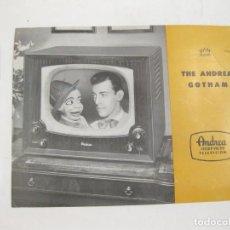 Cámara de fotos: FOLLETO PUBLICITARIO DE TELEVISIONES ANDREA GOTHAM. AÑOS 50.. Lote 168214180