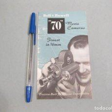 Cámara de fotos: FOLLETO PUBLICITARIO DESPLEGABLE DE TOMAVISTAS BELL & HOWELL. MODELOS 70. AÑOS 50.. Lote 168214772