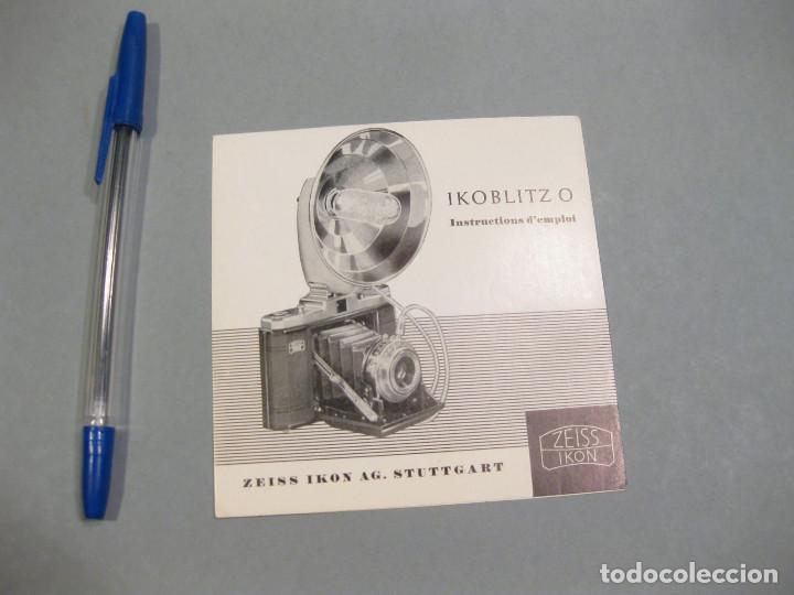 FOLLETO PUBLICITARIO DEL FLASH IKOBLITZ O. ZEISS IKON. AÑOS 50. (Cámaras Fotográficas - Catálogos, Manuales y Publicidad)