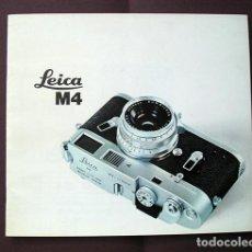 Cámara de fotos: LEICA M4 – DAS LEICA SYSTEM. WERBEBROSCHÜRE. FOLLETO EN ALEMÁN, 1969. Lote 168305336