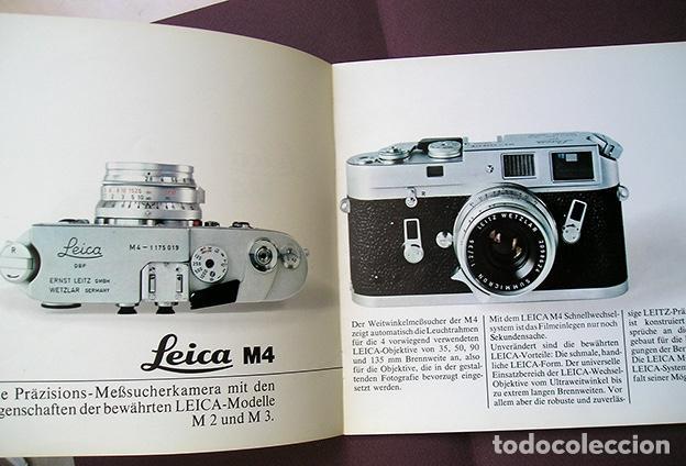 Cámara de fotos: Leica M4 – Das Leica System. Werbebroschüre. Folleto en alemán, 1969 - Foto 2 - 168305336