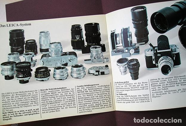 Cámara de fotos: Leica M4 – Das Leica System. Werbebroschüre. Folleto en alemán, 1969 - Foto 3 - 168305336
