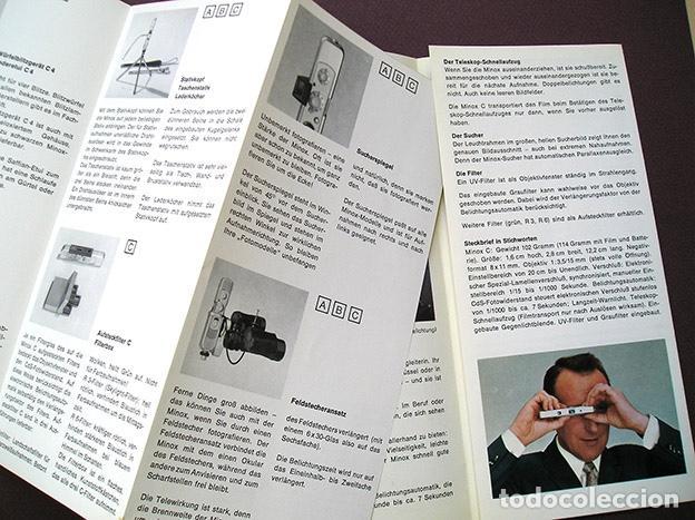 Cámara de fotos: 2 folletos promocionales: Sistema Minox y cámara Minox C - 1970 - en alemán - Foto 2 - 168305568