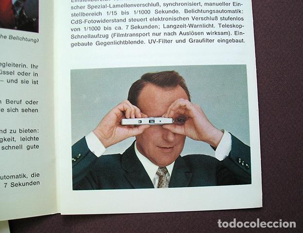 Cámara de fotos: 2 folletos promocionales: Sistema Minox y cámara Minox C - 1970 - en alemán - Foto 3 - 168305568
