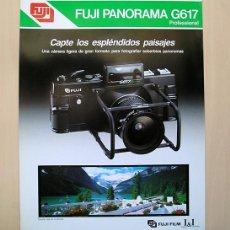 Cámara de fotos: FUJI PANORAMA G617 – HOJA PROMOCIONAL DE 1982. 28 X 21 CM. . Lote 168305940