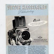 Cámara de fotos: CUADRÍPTICO PROMOCIONAL HASSELBLAD – 1980 – EN ESPAÑOL. Lote 168306116