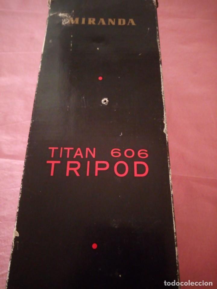 Cámara de fotos: trípode extensible miranda titan 606 tripod,en caja original algo estropedada - Foto 9 - 168872052