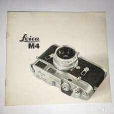 Cámara de fotos: CATÁLOGO LEICA M4. Lote 169247122