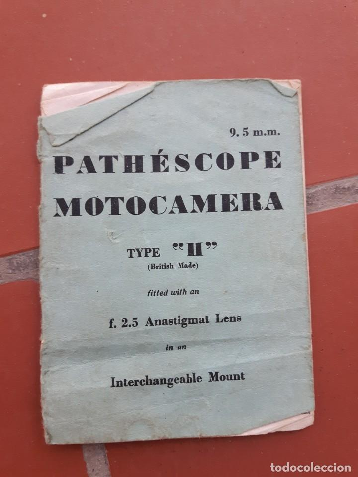 MANUAL PATHESCOPE MOTOCAMERA TYPE H (Cámaras Fotográficas - Catálogos, Manuales y Publicidad)