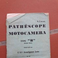 Cámara de fotos: MANUAL PATHESCOPE MOTOCAMERA TYPE H. Lote 169451128