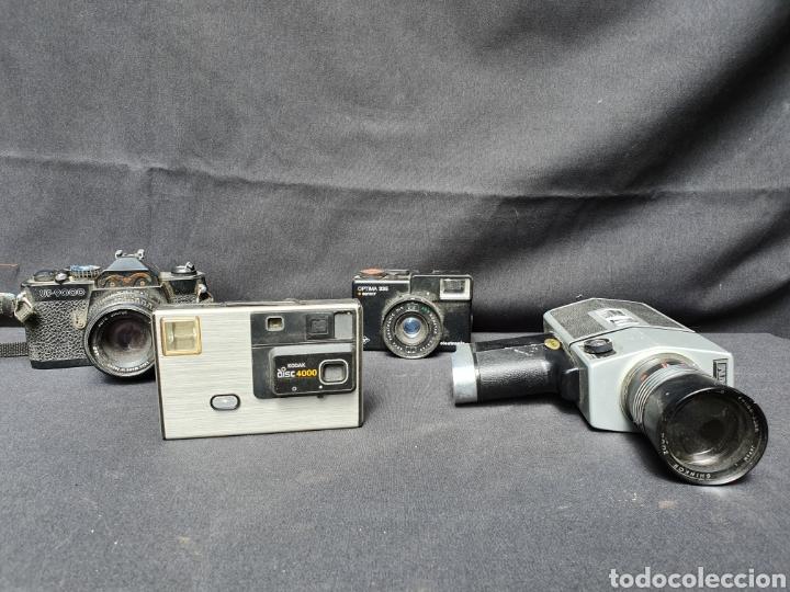 LOTE 4 CÁMARAS A CUERDA Y VARIOS. KODAK, UF-9000, AGFA OPTIMA 335 Y VIDEOCAMARA (Cámaras Fotográficas - Otras)