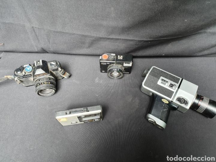 Cámara de fotos: Lote 4 cámaras a cuerda y varios. Kodak, UF-9000, Agfa optima 335 y videocamara - Foto 2 - 169667170