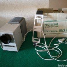 Cámara de fotos: PROYECTOR DE DIAPOSITIVAS MARCA ENOSA MOD50. Lote 169871413