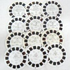 Cámara de fotos: ANTIGUOS VIEW-MASTER VIEWMASTER 12 DISCOS DE 7 IMÁGENES 3D ESTEREOSCÓPICAS VIEWMASTER LOTE 2. Lote 170014200