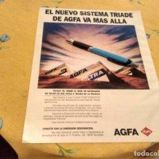 Cámara de fotos: ANTIGUO ANUNCIO PUBLICIDAD REVISTA CARRETE DE FOTOS AGFA ESPECIAL PARA ENMARCAR. Lote 170422748