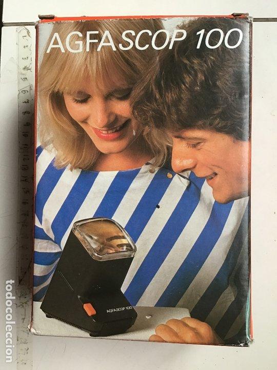 Cámara de fotos: AGFASCOP 100 . Visor de diapositivas, filminas y negativos. 5X5. En su caja original. - Foto 2 - 172168522