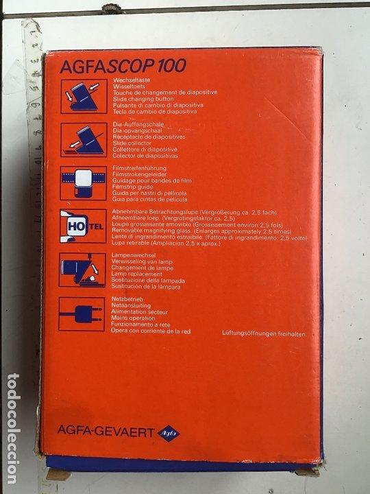 Cámara de fotos: AGFASCOP 100 . Visor de diapositivas, filminas y negativos. 5X5. En su caja original. - Foto 3 - 172168522