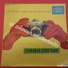 Cámara de fotos: CAMARAS ZEISS IKON. ANTIGUO CATÁLOGO ORIGINAL. Lote 172299400
