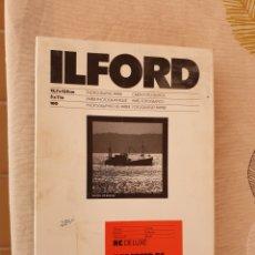 Cámara de fotos: PAPEL FOTOGRAFICO ILFORD. Lote 172625565