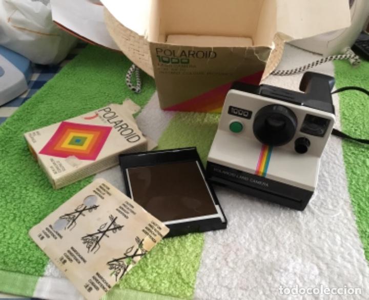Cámara de fotos: Cámara polaroid con pelicula y caja y corcho - Foto 6 - 172939592