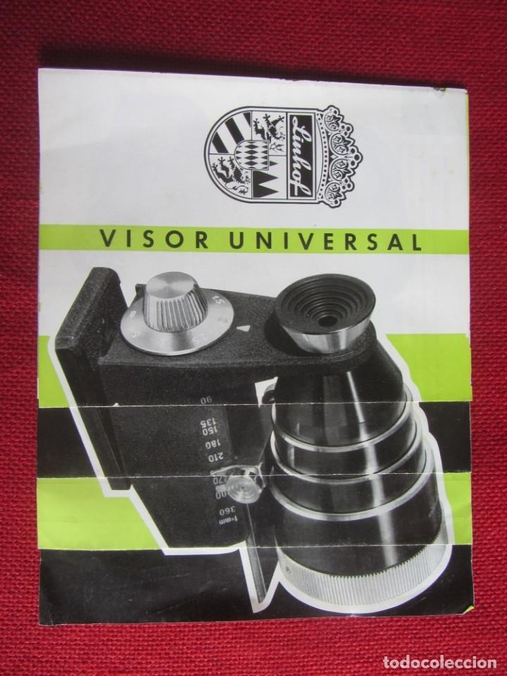 PUBLICIDAD VISOR UNIVERSAL LINHOF AÑOS 50-60 (Cámaras Fotográficas - Catálogos, Manuales y Publicidad)