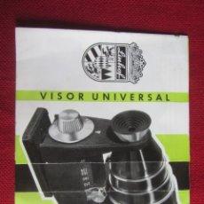 Cámara de fotos: PUBLICIDAD VISOR UNIVERSAL LINHOF AÑOS 50-60. Lote 172951945