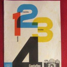 Cámara de fotos: CATALOGO PUBLICIDAD CONTAFLEX ZEISS IKON. 1956. Lote 172960965