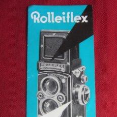 Cámara de fotos: ROLLEIFLEX TRIPTICO PUBLICIDAD. AÑOS 50-60. Lote 173014785