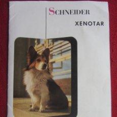 Fotocamere: SCHNEIDER XENOTAR 1:2,8 CATALOGO. 1950-60. Lote 173018747