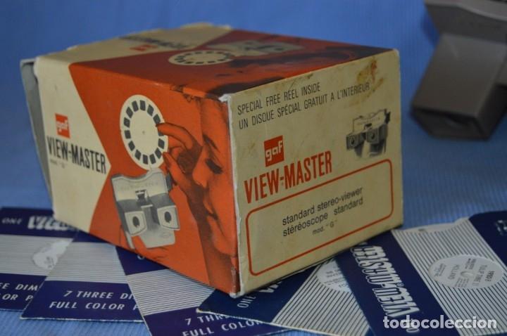 Cámara de fotos: VINTAGE - VIEW MASTER - 3 DIMENSIONES - VIEWER MODELO G - En su CAJA - PERFECTO - COMO NUEVO - Foto 6 - 173385947