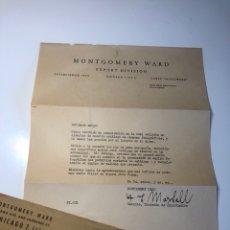 Cámara de fotos: CARTA CORRESPONDENCIA MONTGOMERY WARD AÑO 1947. Lote 173857477
